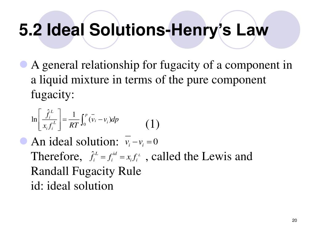 5.2 Ideal Solutions-Henry's Law