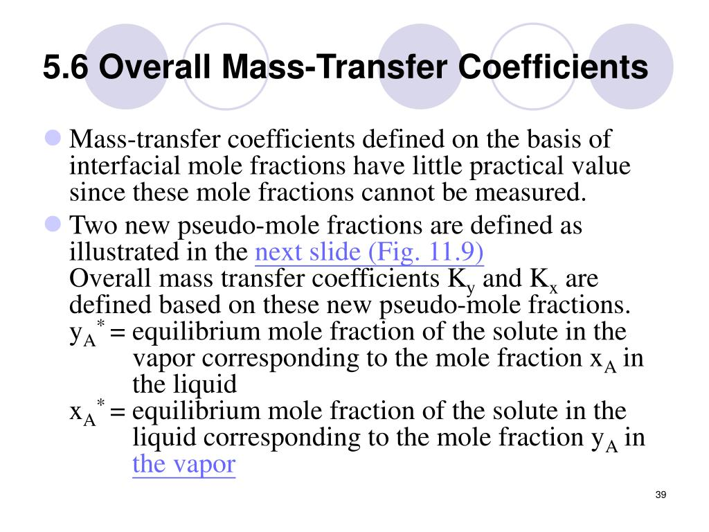 5.6 Overall Mass-Transfer Coefficients