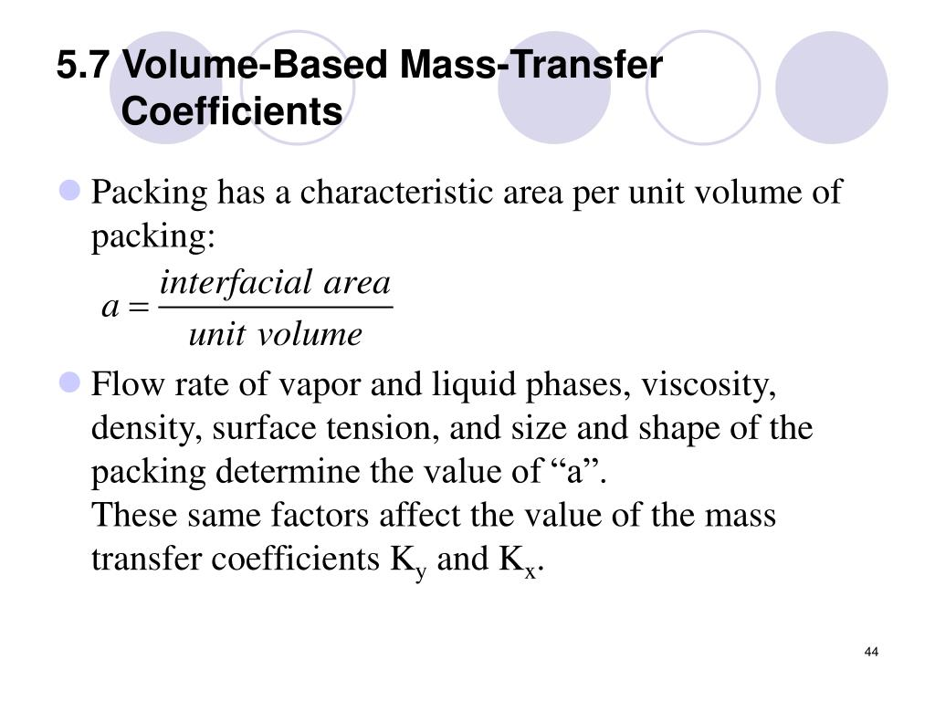 5.7 Volume-Based Mass-Transfer Coefficients