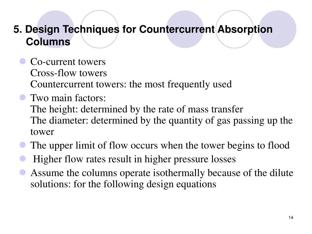 5. Design Techniques for Countercurrent Absorption Columns