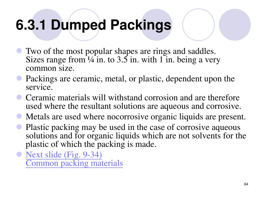 6.3.1 Dumped Packings