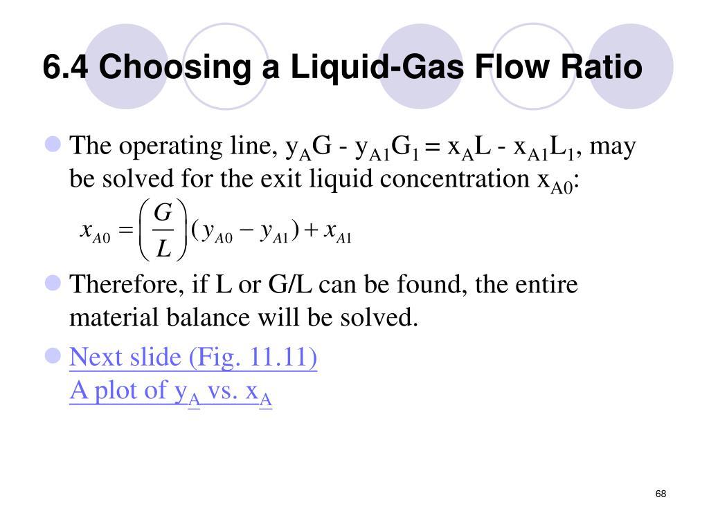 6.4 Choosing a Liquid-Gas Flow Ratio
