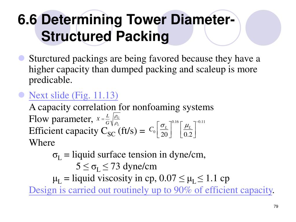 6.6 Determining Tower Diameter-Structured Packing