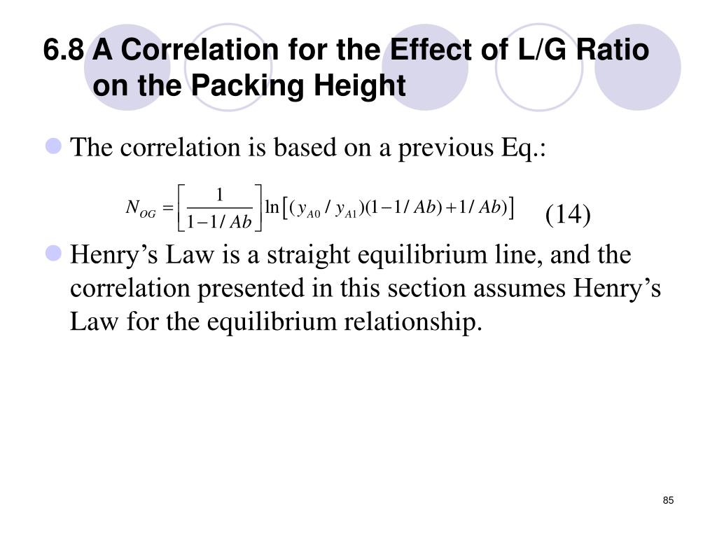 6.8 A Correlation for the Effect of L/G Ratio on the Packing Height
