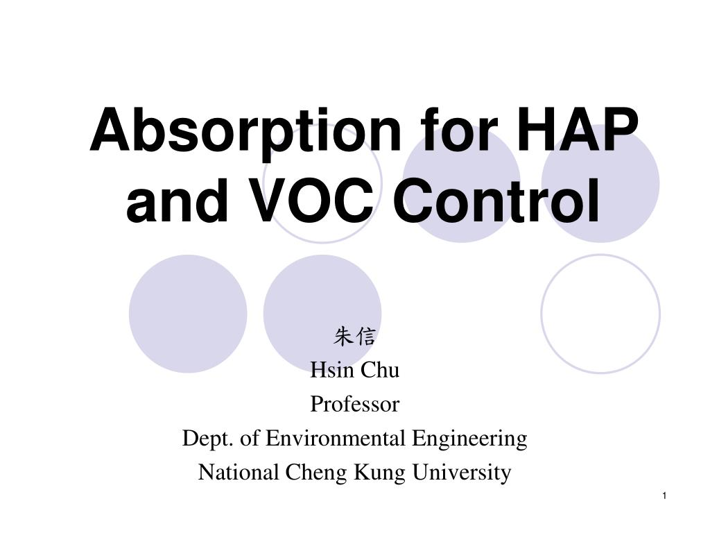 Absorption for HAP and VOC Control