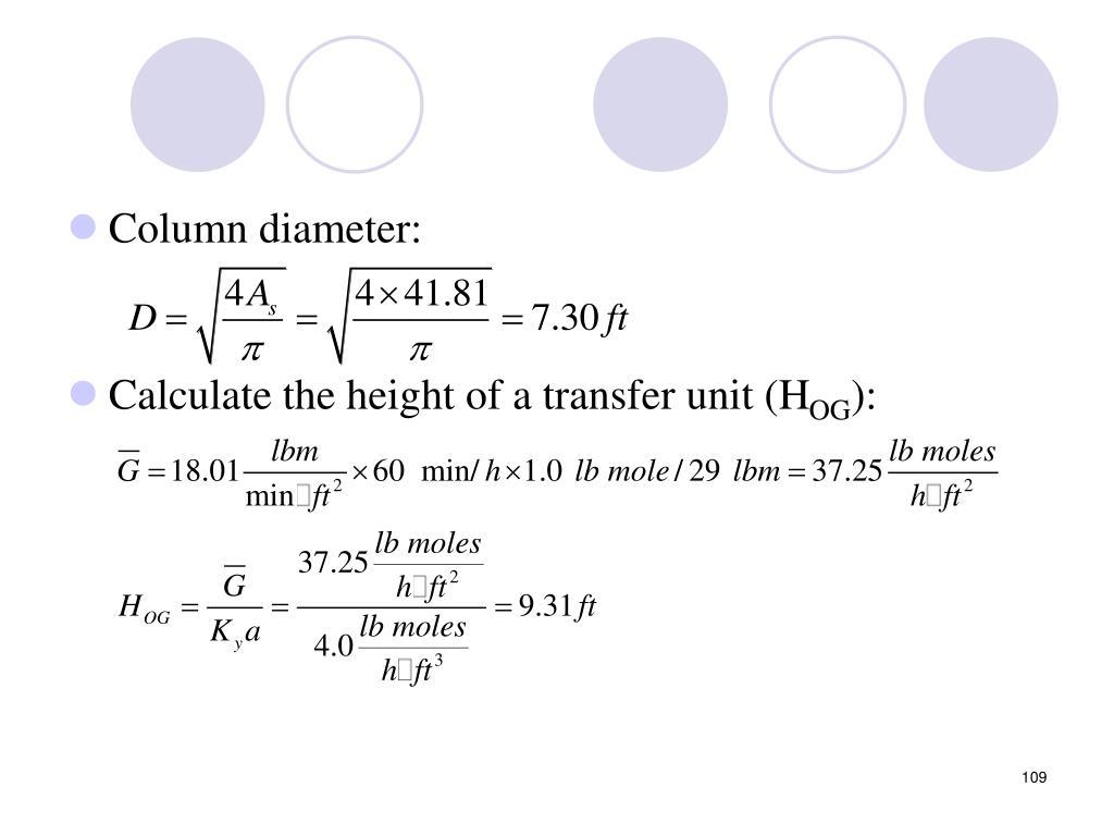 Column diameter: