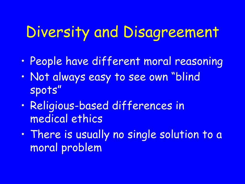 Diversity and Disagreement