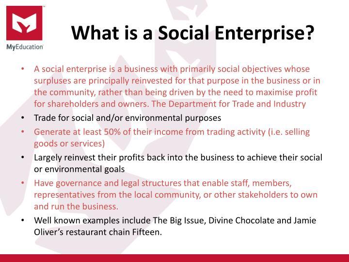 What is a Social Enterprise?