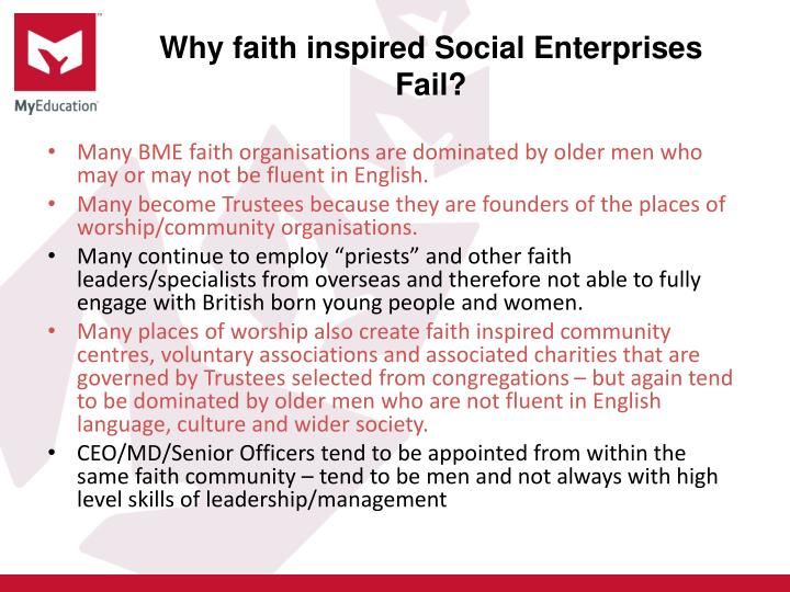 Why faith inspired Social Enterprises Fail?
