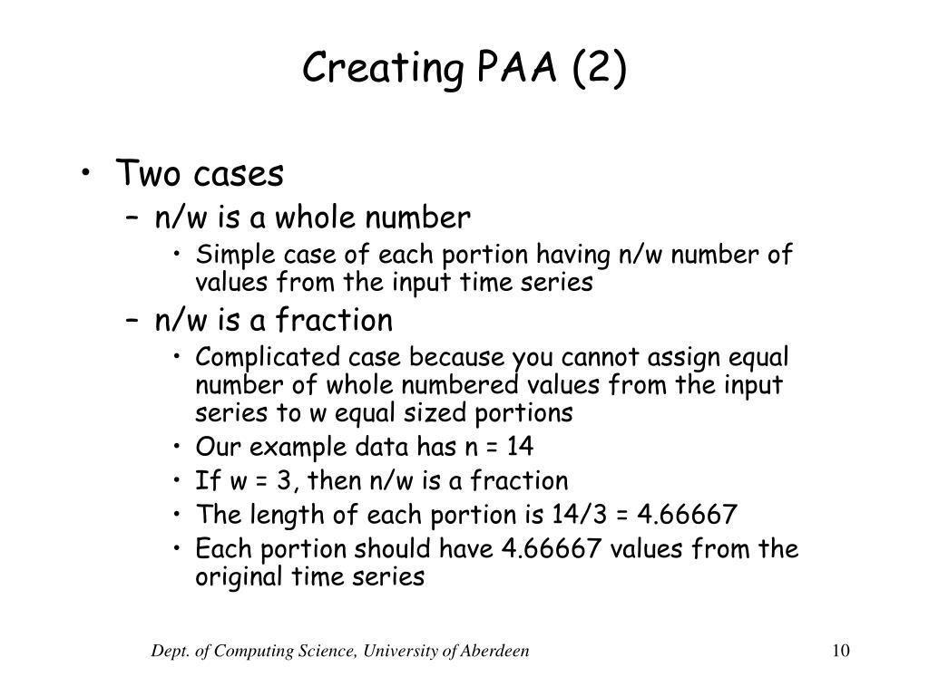 Creating PAA (2)