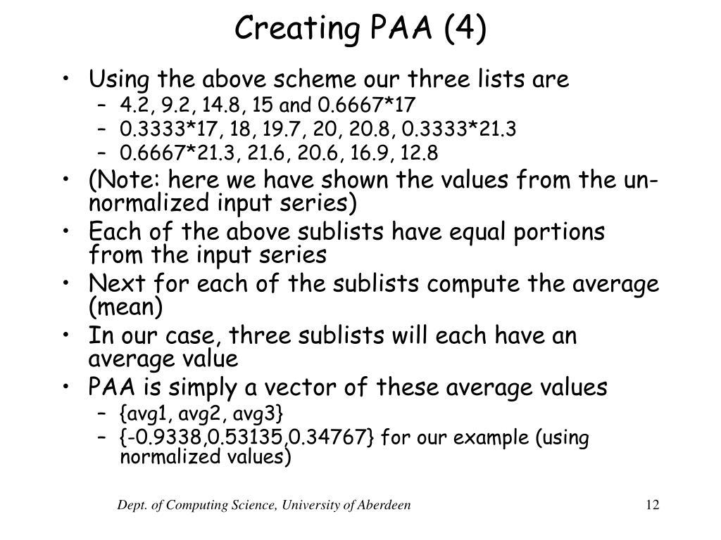 Creating PAA (4)