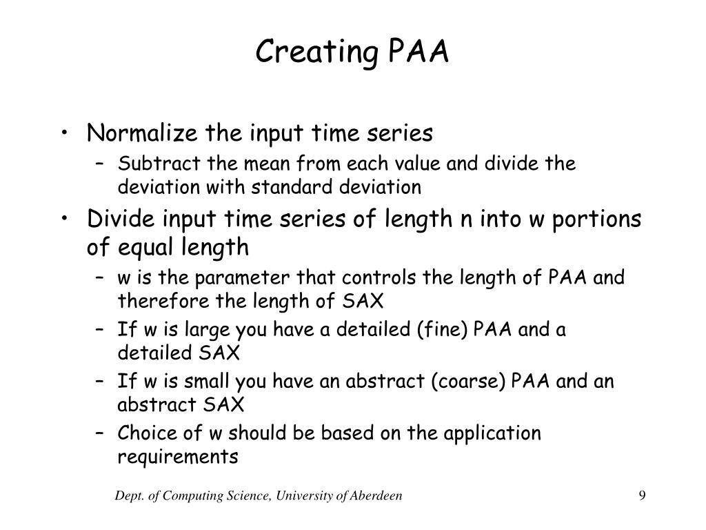 Creating PAA