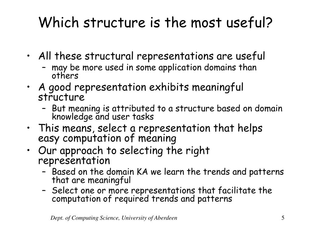 Which structure is the most useful?