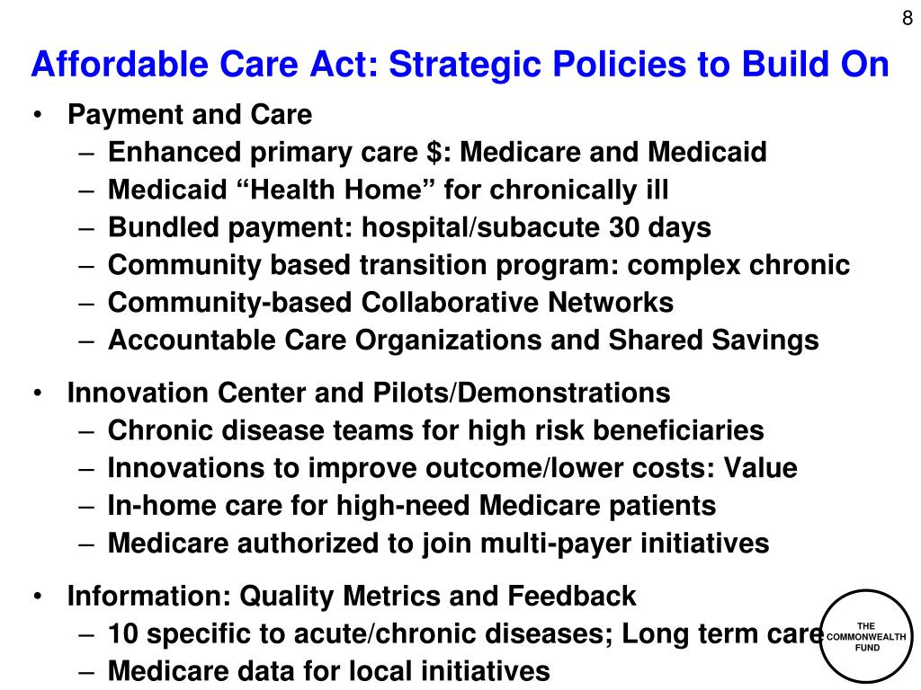 Affordable Care Act: Strategic Policies to Build On