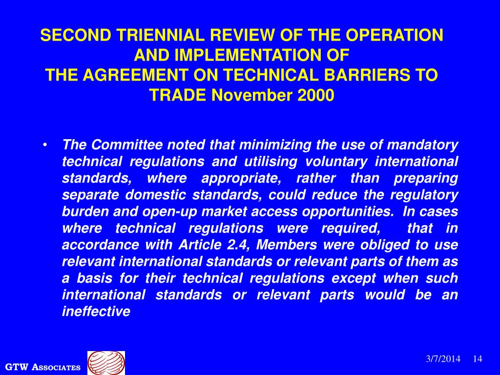 SECOND TRIENNIAL REVIEW OF THE OPERATION AND IMPLEMENTATION OF