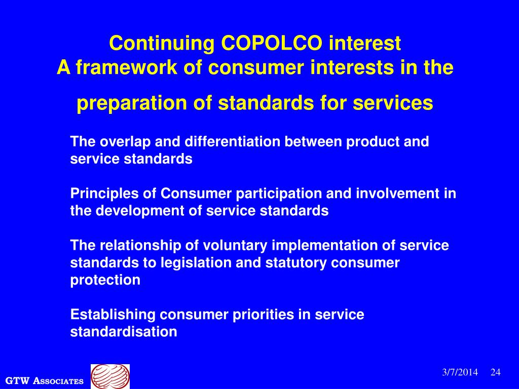 Continuing COPOLCO interest