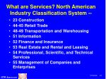 what are services north american industry classification system