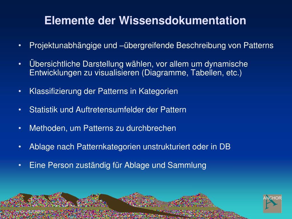 Elemente der Wissensdokumentation