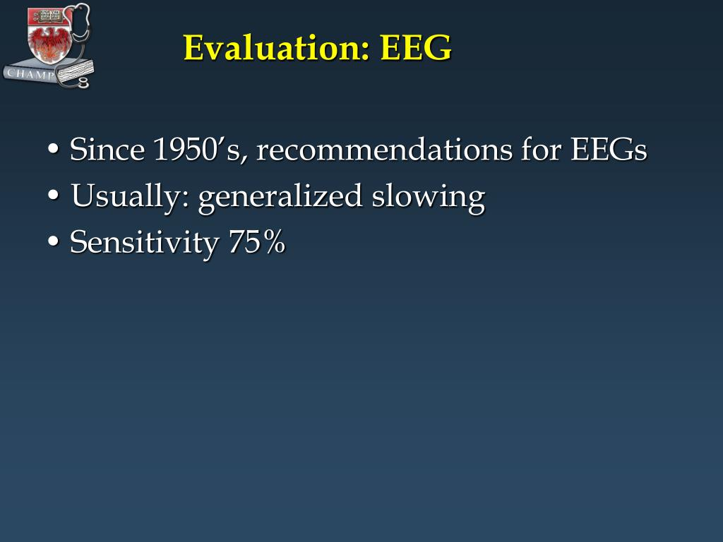 Evaluation: EEG