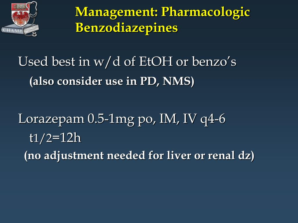 Management: Pharmacologic