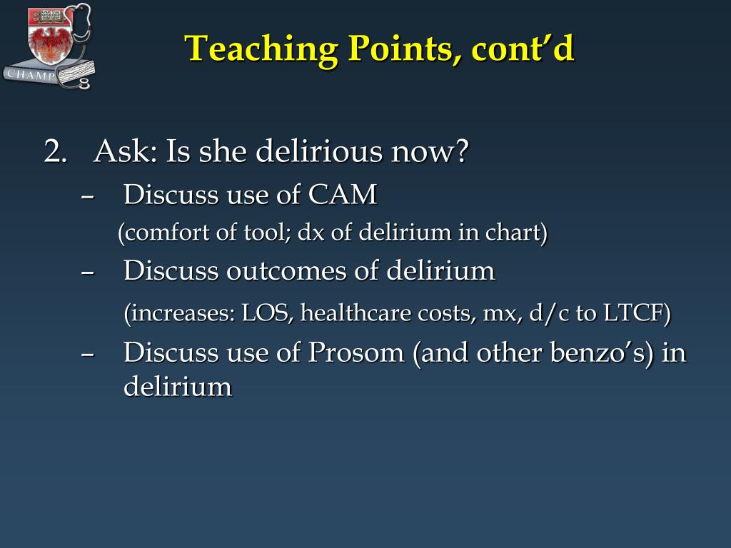 Teaching Points, cont'd