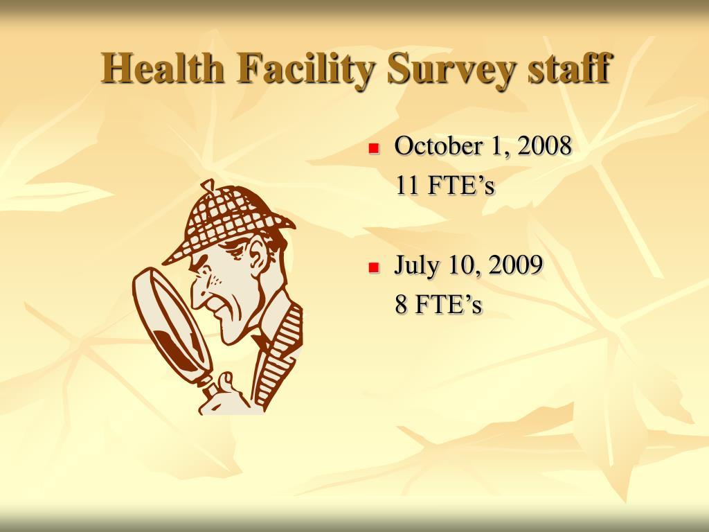 Health Facility Survey staff