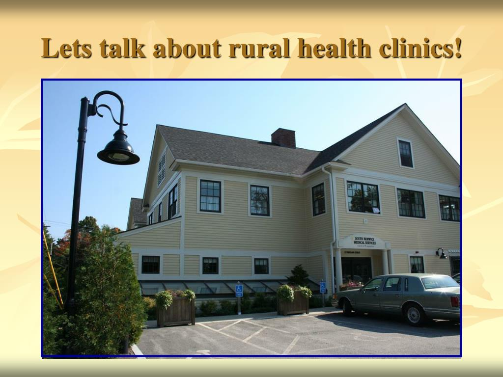 Lets talk about rural health clinics!