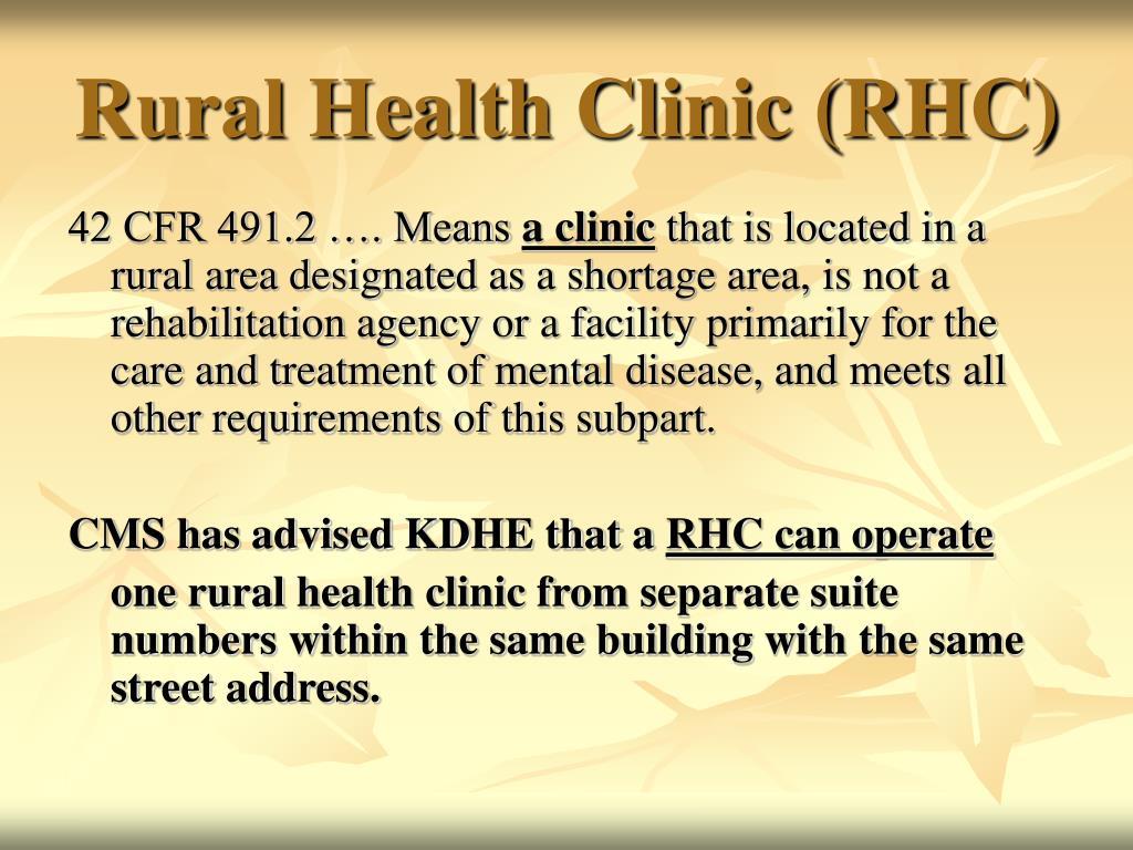 Rural Health Clinic (RHC)