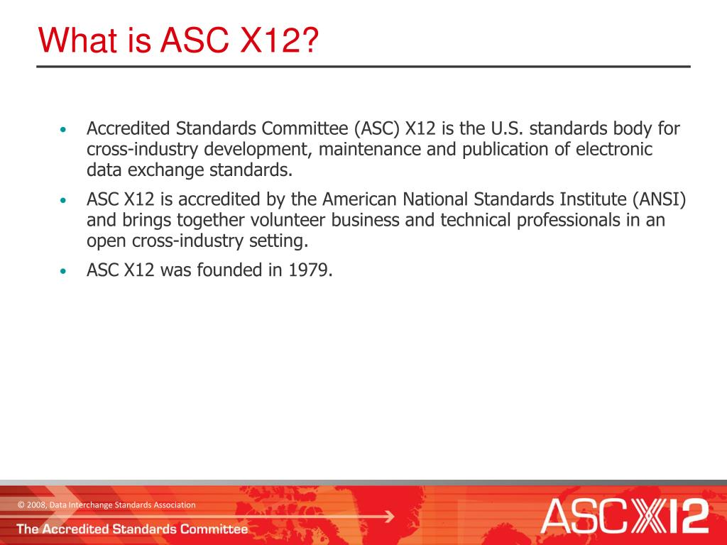 What is ASC X12?