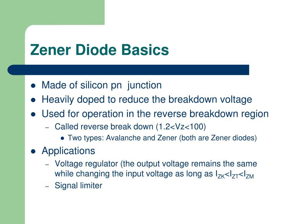 Zener Diode Basics