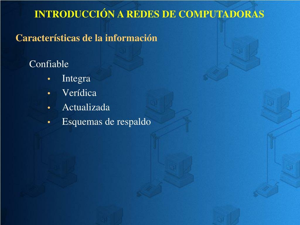 Características de la información
