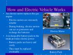how and electric vehicle works
