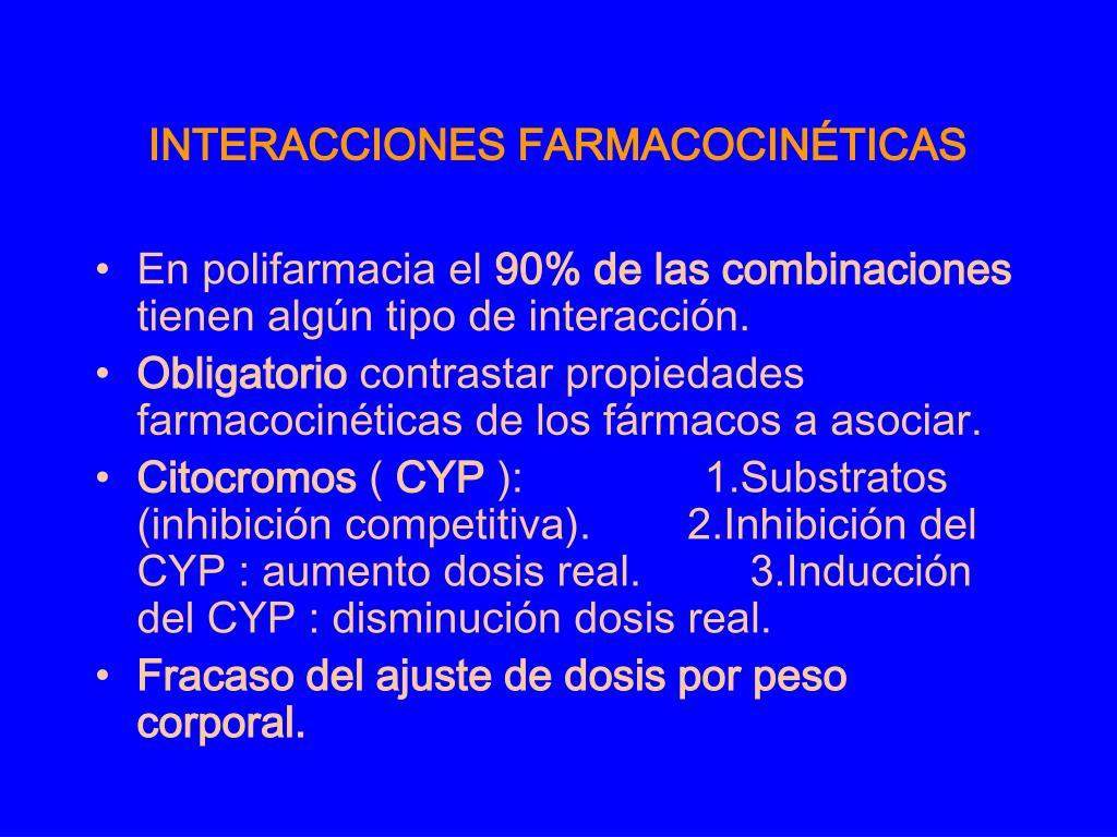 INTERACCIONES FARMACOCINÉTICAS