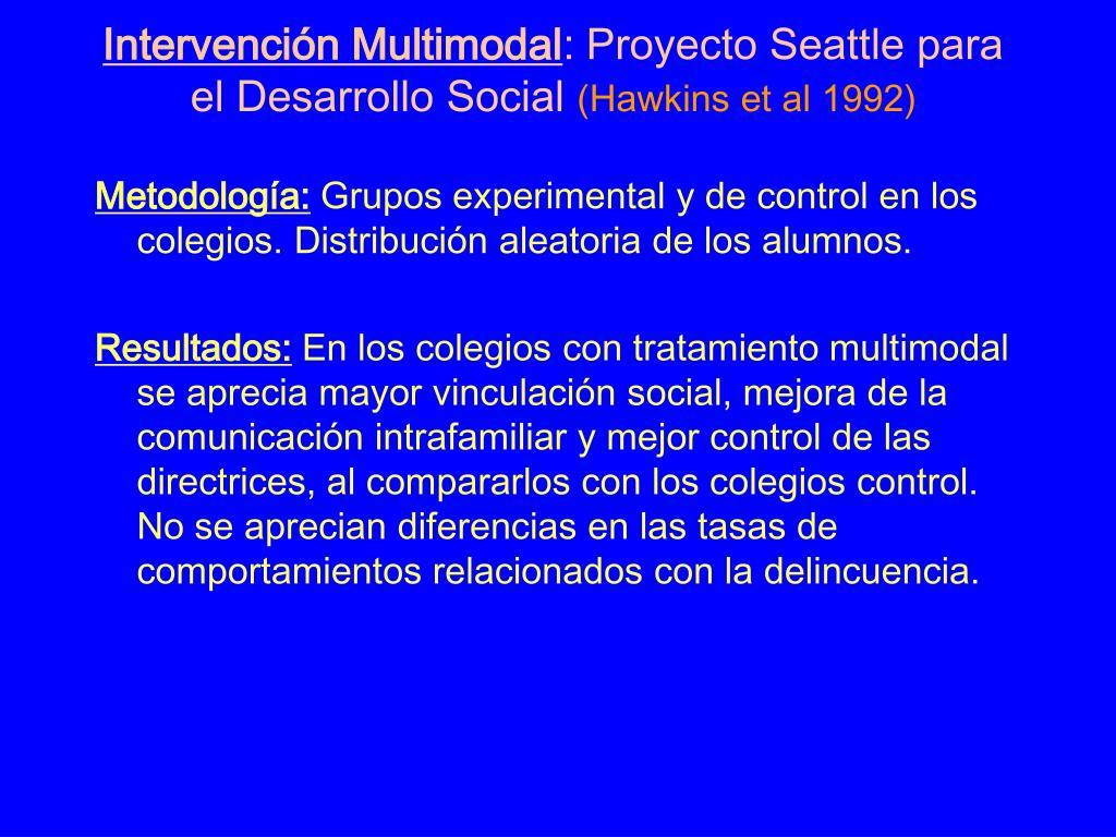 Intervención Multimodal