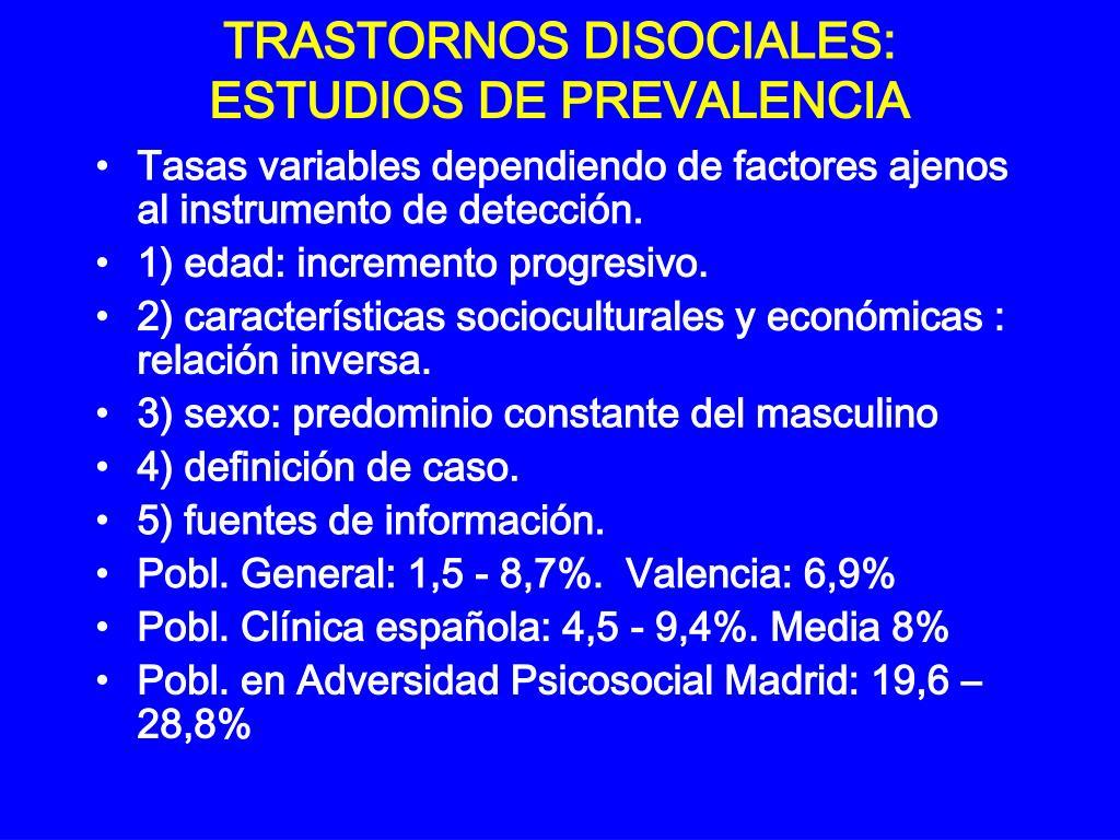 TRASTORNOS DISOCIALES: