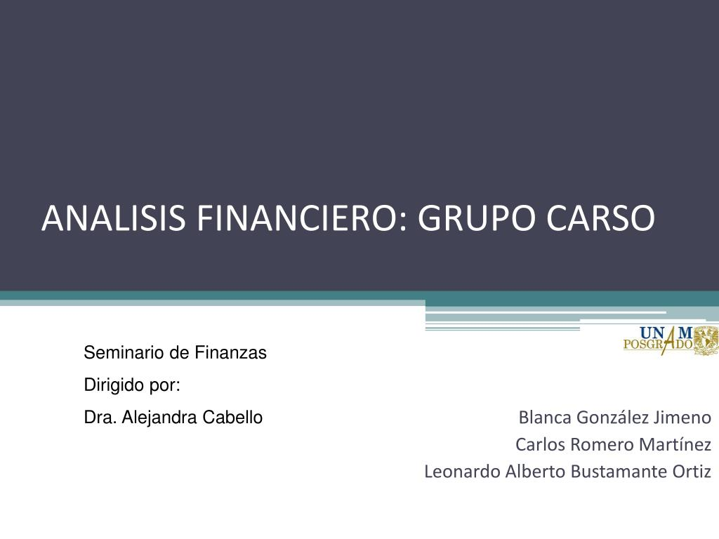 ANALISIS FINANCIERO: GRUPO CARSO