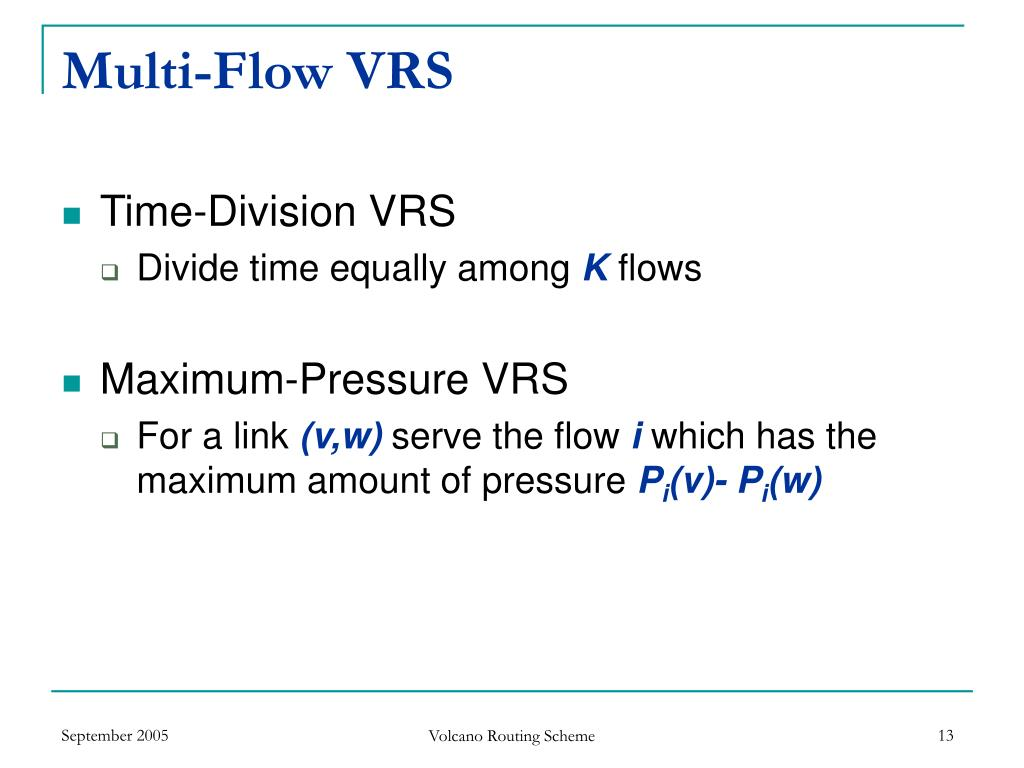 Multi-Flow VRS
