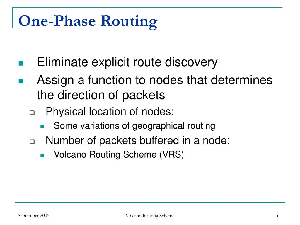 One-Phase Routing