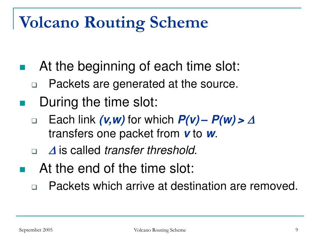 Volcano Routing Scheme