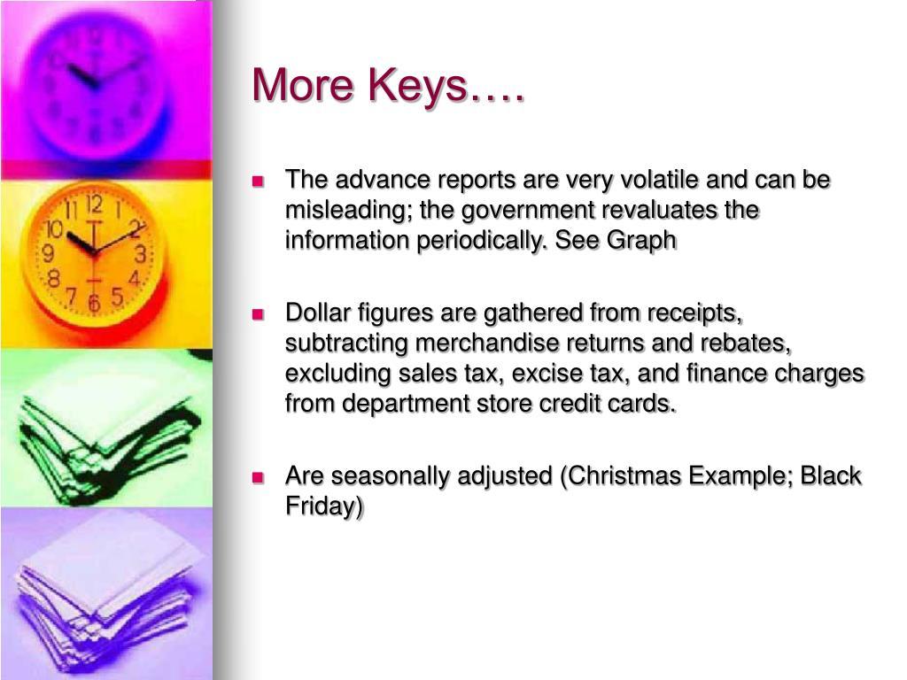 More Keys….