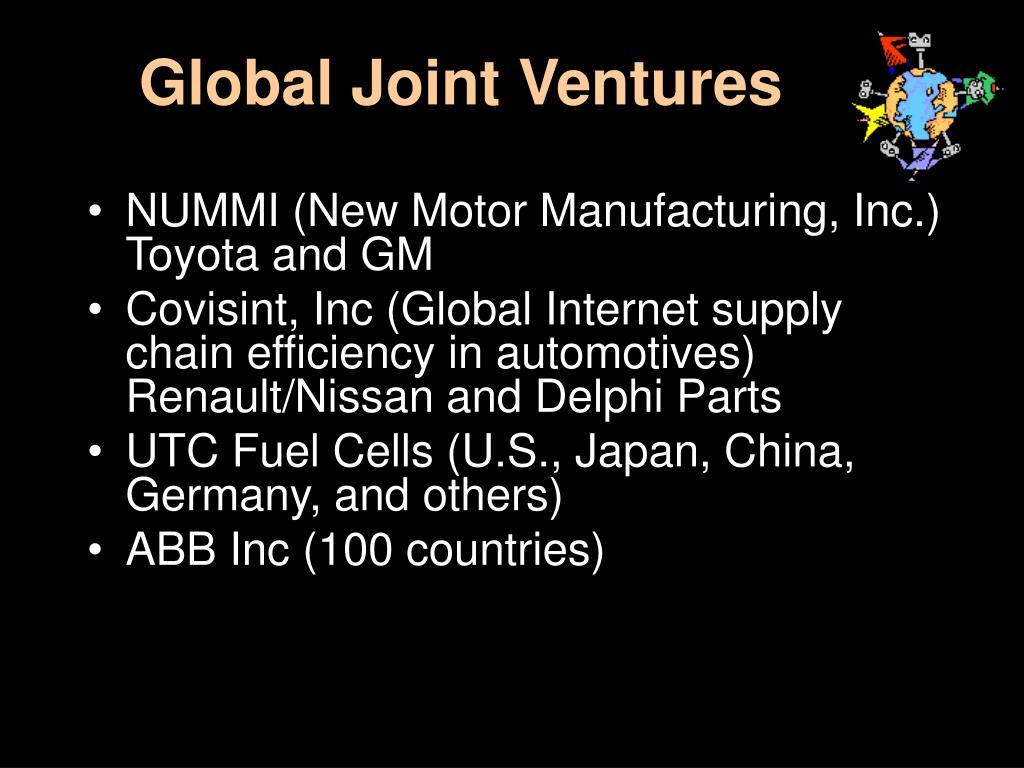 Global Joint Ventures