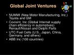 global joint ventures