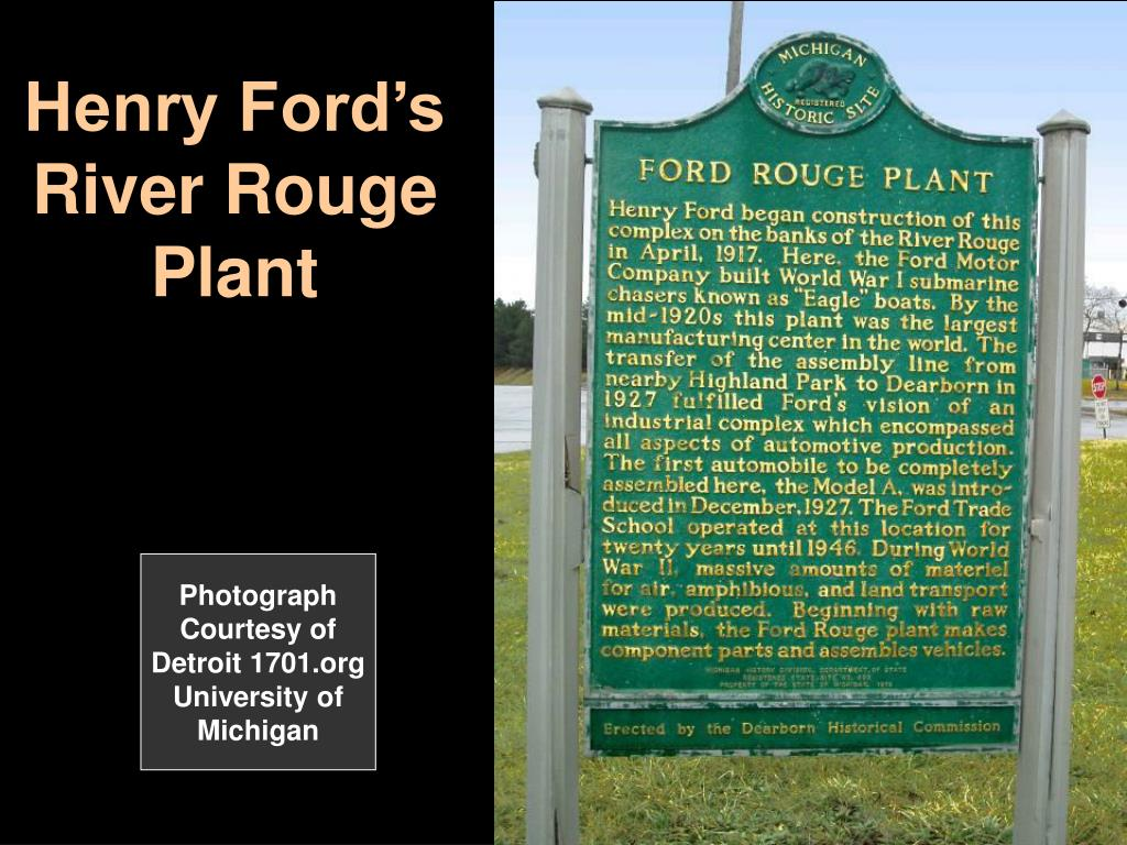 Henry Ford's River Rouge Plant