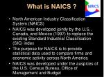 what is naics