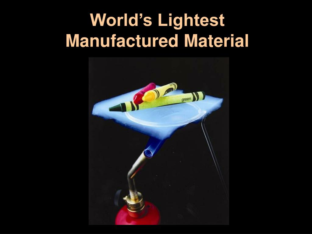 World's Lightest Manufactured Material