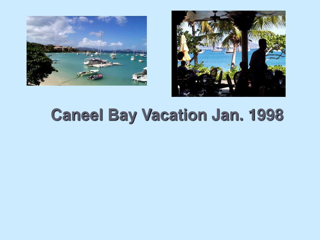 Caneel Bay Vacation Jan. 1998