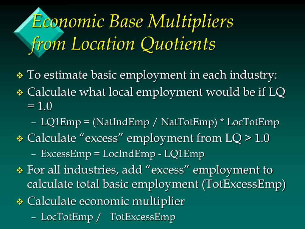 Economic Base Multipliers