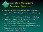 economic base multipliers from location quotients