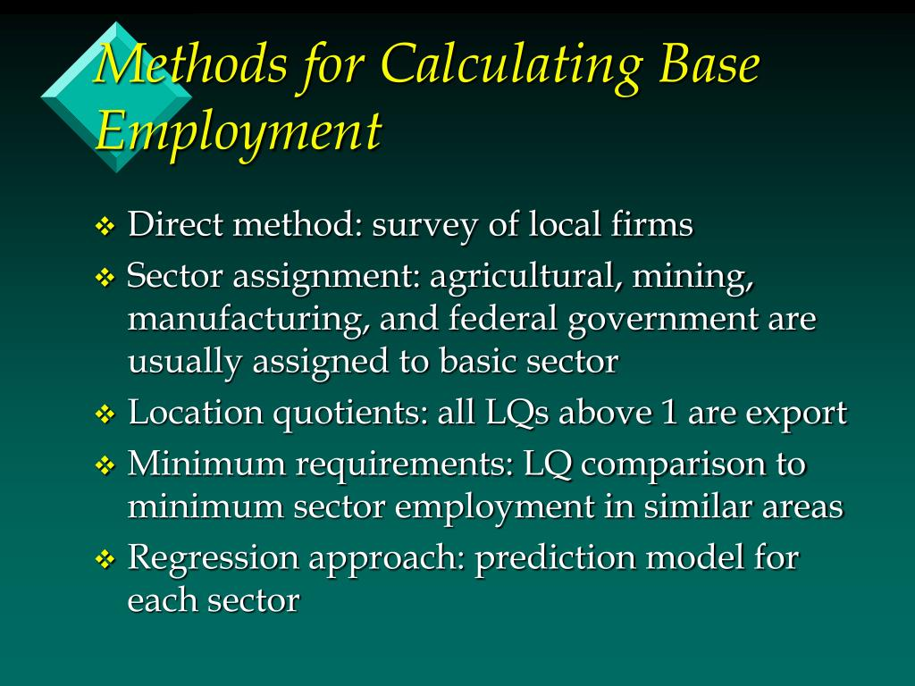 Methods for Calculating Base Employment