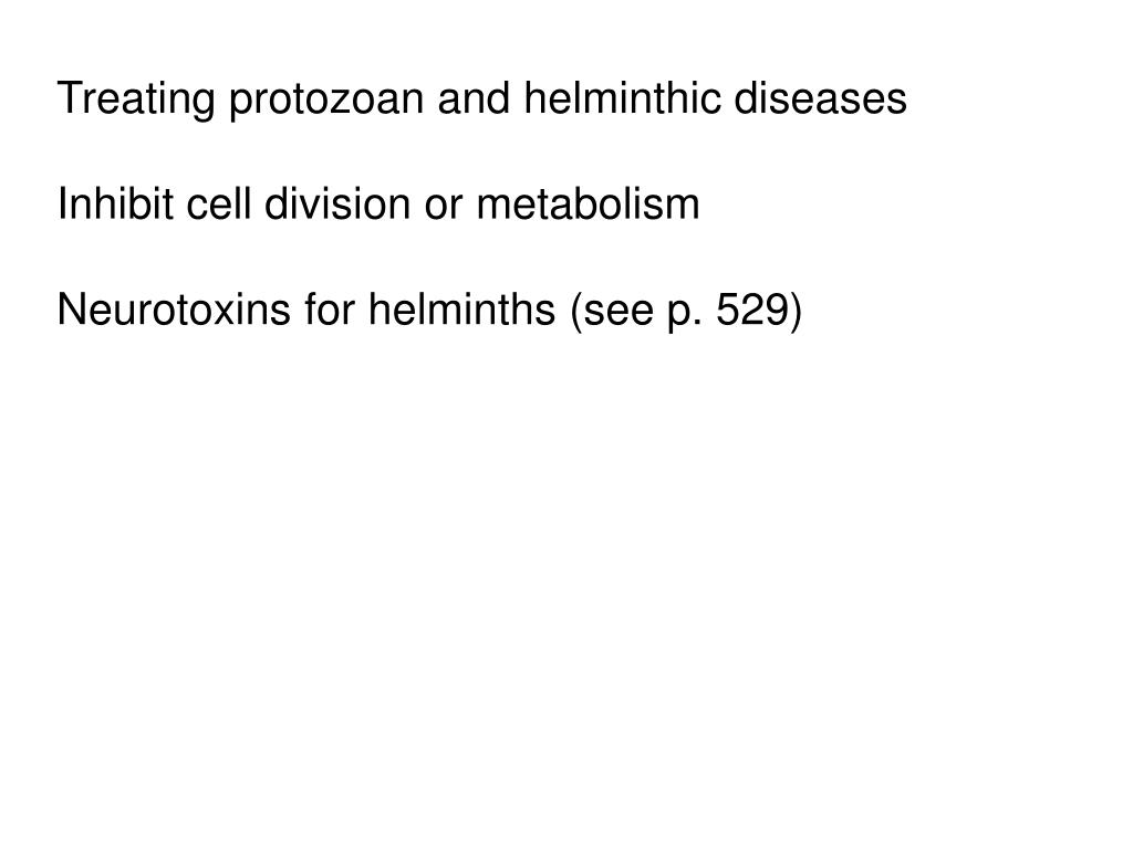Treating protozoan and helminthic diseases